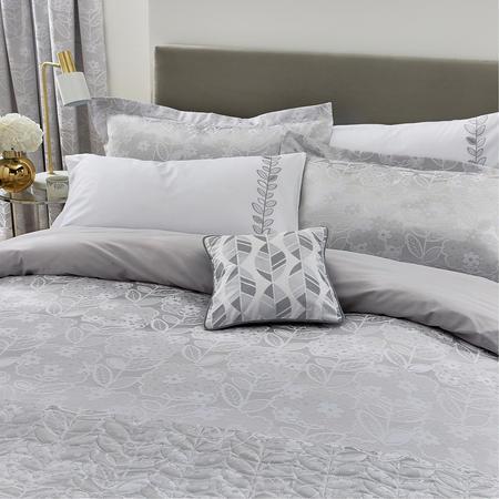 Petal Cushion White/Silver