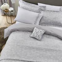 Petal Oxford Pillowcase White/Silver