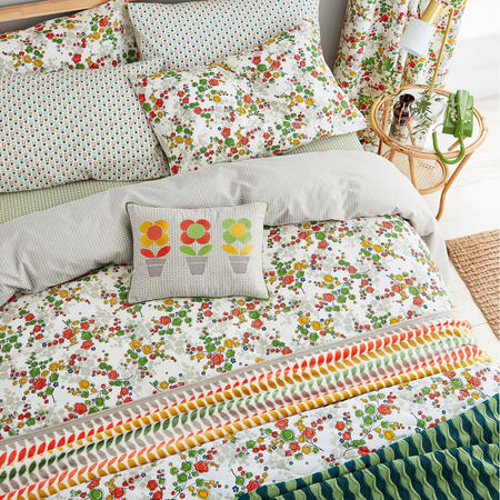 April Duvet Set Spring Green