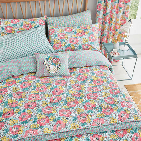 Mary Jane/Trixie Duvet Set Duck Egg