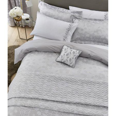 Petal Bedspread White/Silver