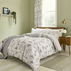 Willow Tree Duvet Cover Set Grey
