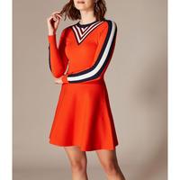 Stripe Insert Knit Dress