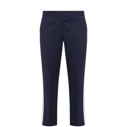 Cropped Cigarette Stripe Trousers