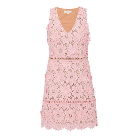 Floral Appliqué Lace Dress