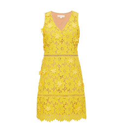Floral Appliqué Lace Dress