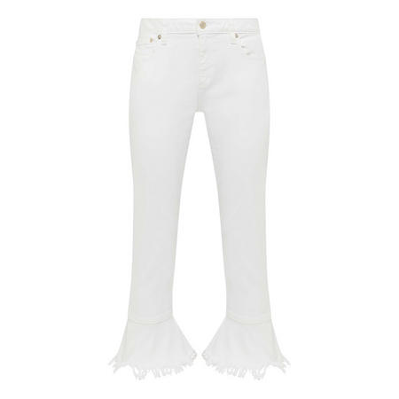 Frilled Cropped Jeans