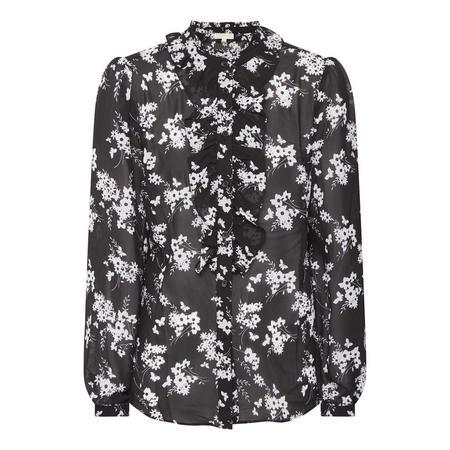 Monochrome Floral Blouse