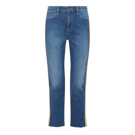 Regal Striped Straight Jeans
