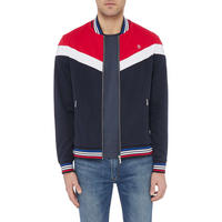 Colour Block Bomber Sweat Top