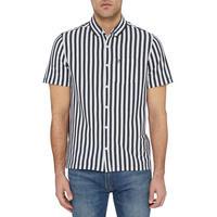 Knit Vertical Stripe Shirt