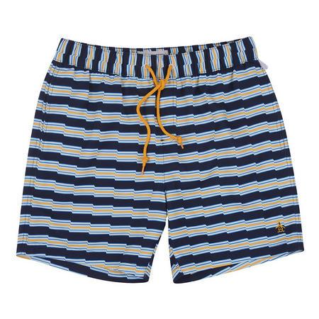Zig-Zag Stripe Swim Shorts