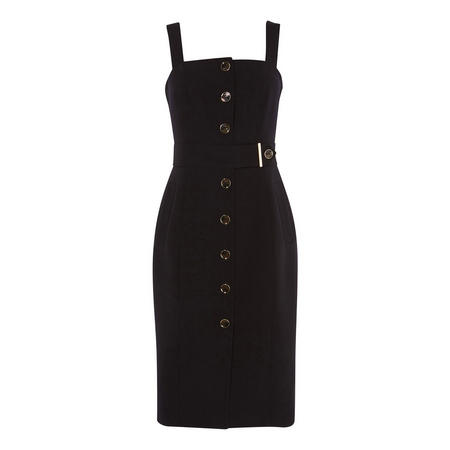 Buttoned Bodycon Dress