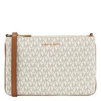 Adele Logo Double Zip Crossbody Bag