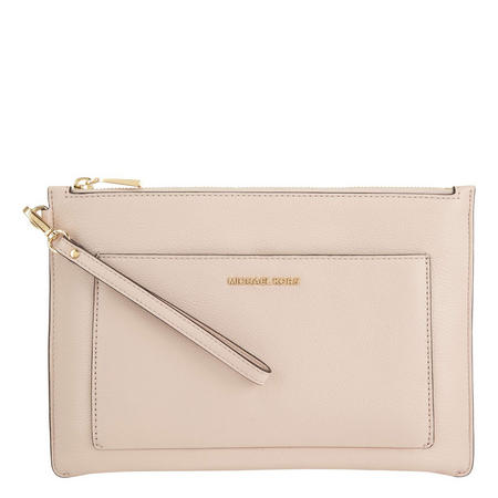 Zipped Large Pouch Clutch