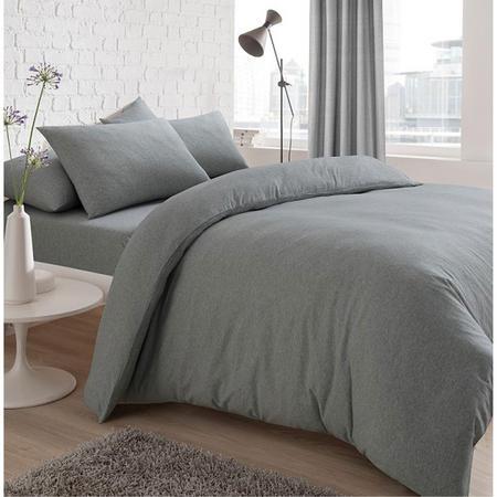 Jersey Duvet Set Grey