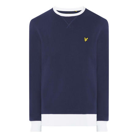 Ringer Crew Neck Sweat Top
