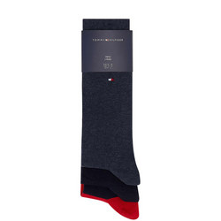 Three-Pack Plain Socks