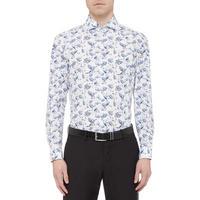 Long Sleeve Bird Print Shirt