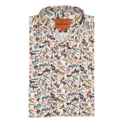 African Wildlife Print Shirt