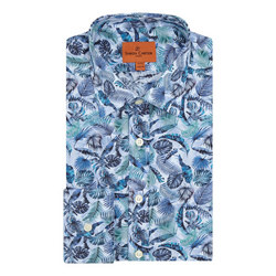 Palm Print Long Sleeve Shirt