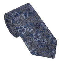 Hibiscus Flower Embroidered Tie