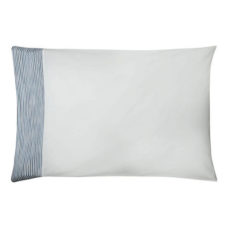Stonewash Stripe Cotton Standard Pillowcase Light Blue