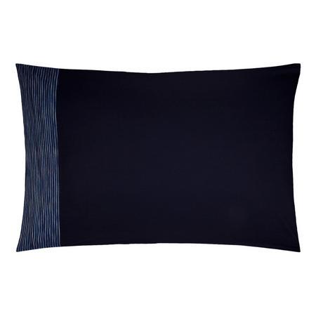 Stonewash Stripe Cotton Standard Pillowcase Dark Blue