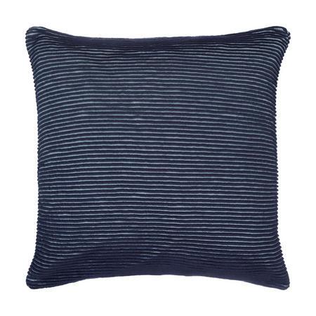 Rib Knit Cushion Navy 50 x 50cm