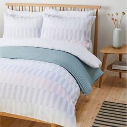 Block Pastel Stripe Single Duvet Cover Set, Multi