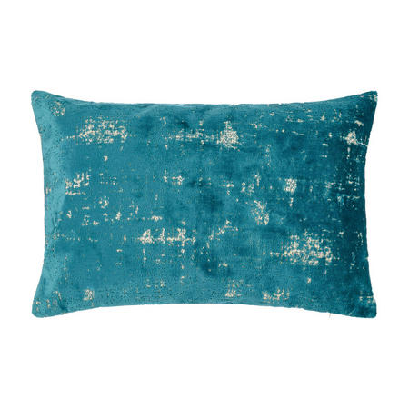Distressed Velvet Cushion Dark Spruce