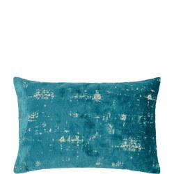 Distressed Velvet Cushion Dark Spruce 40 x 60cm