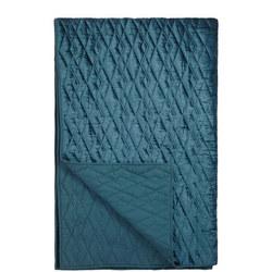 Teora Velvet Bedspread Carbon Blue