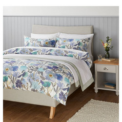 Soft and Silky Bloom Duvet Cover Set Blue