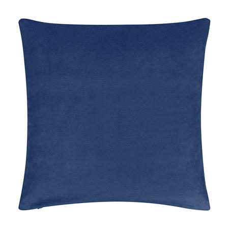 Plain Velvet Cushion Navy
