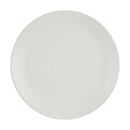 Glaze Speckle Dinner Plate White