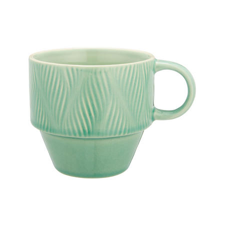 Crackle Glaze Stoneware Stackable Mug Aqua