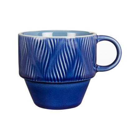 Crackle Glaze Stoneware Stackable Mug Cobalt