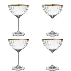 Croft Collection Oakham Champagne Saucer Set of 4