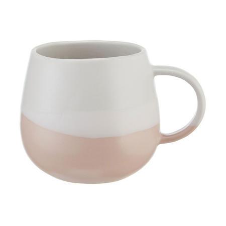 Croft Collection Dipped Stoneware Artisan Mug White/Light Pink