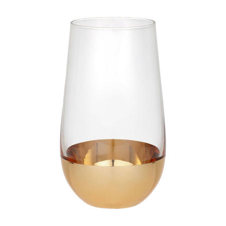 Gold Dipped Highball Glass 570ml Gold/Clear