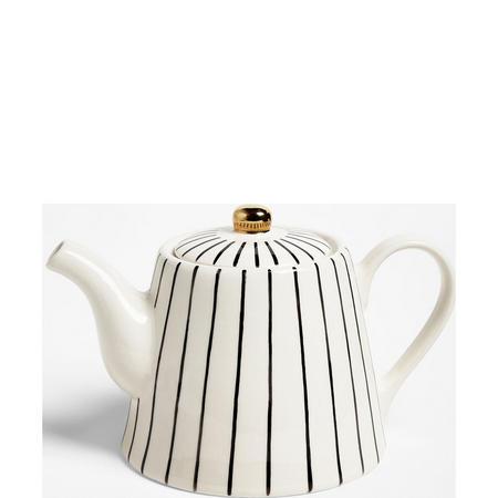 Fusion Striped Teapot 1.2L White/Black