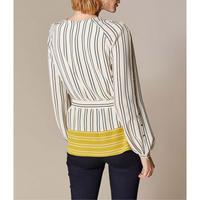 Contrast Hem Stripe Blouse