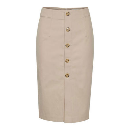 Christy Button Pencil Skirt