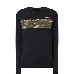 Camouflage Block Print Sweat Top