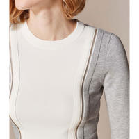 Contrast Long Sleeve Top