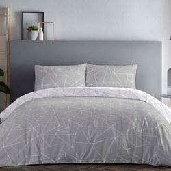 Shard Duvet Set Grey