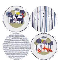 Ceramic Plates Set of 4