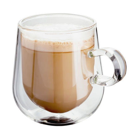 Double Walled Glassware Two Piece Latte Glass Set