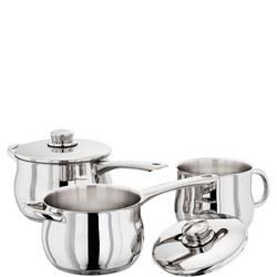 Saucepan 3pce Deep Saucepan Set 16/18cm Saucepans & 1 Milk saucepot